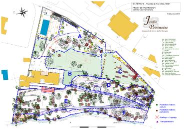 Plan phase chantier jardin