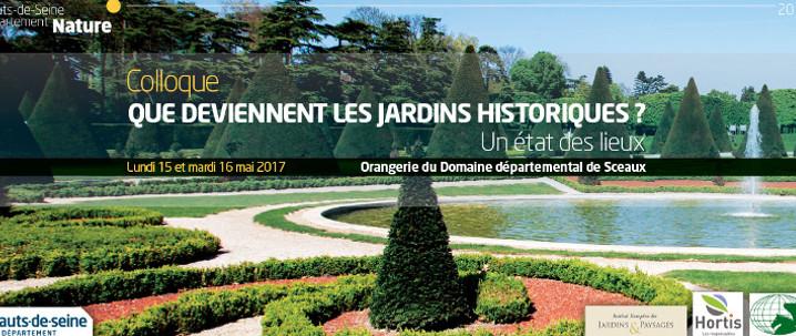 Colloque Jardins historiques Sceaux 15 16 mai 2017